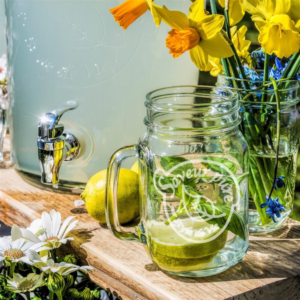 Mason jar voor limonade