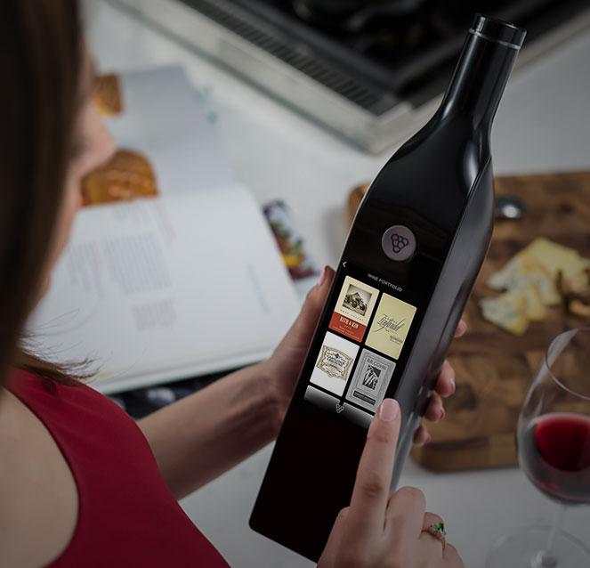 Kuvée wijnfles raadplegen